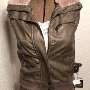 Ci Sono Faux leather vest